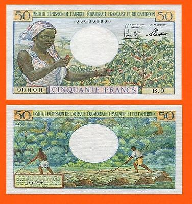 French Equatorial Africa 1957,50Francs. UNC - Reproduction