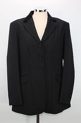GORRINGE black riding show jacket size 36 Uk 8 10