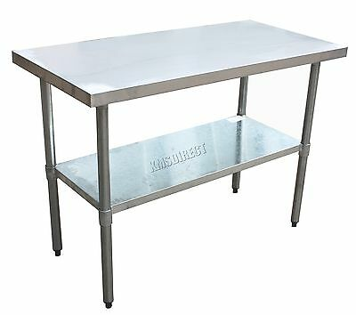 FoxHunter Stainless Steel Commercial Catering Table Work Bench Kitchen 2FT X 4FT
