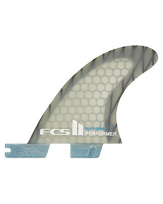 New Fcs Surf Ii Performer Pc Carbon Quad Rears Surfing Accessories Fin Blue
