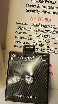 Vintage Estate Lindenwold's Fine Jewelers 1 Ct Simulated Loose Diamond/in Pouch