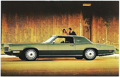 1971 Ford THUNDERBIRD 2-Door LANDAU Original Dealer Promo Postcard UNUSED VG+/Ex