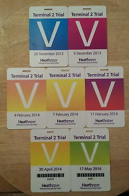HEATHROW Terminal 2 T2 Volunteer Trial Participation Cards Multiple Dates