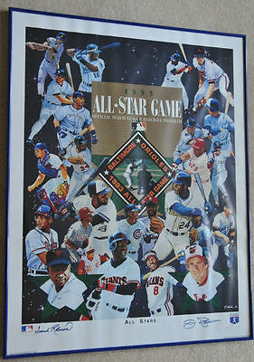 Frank Robinson Jim Palmer Autographed All Star Collage