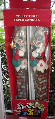 Vintage Collectible Taper Candles Looney Tunes ( BUGS BUNNY )