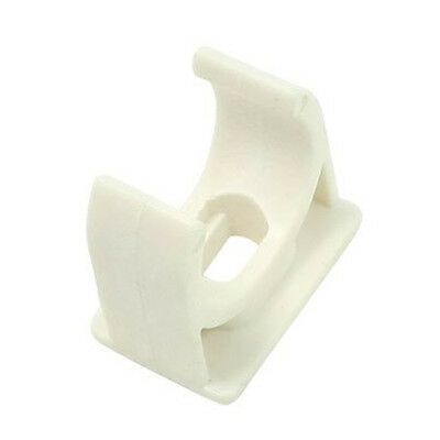 10 Pcs 20mm Diameter White PVC Water Supply Pipe Clamps Clips AD