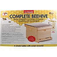 Miller Manufacturing 052832 10 Frame Complete Bee Hive -  Natural Pine