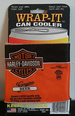 Harley Davidson 1986 Wrap-It Can Cooler Beer RARE HD Unused