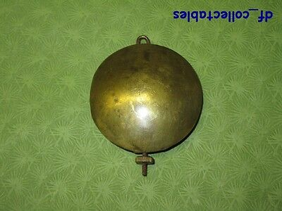 Antique brass pendulum heavy about 6 oz. diameter 2 in. for clocks (ref.410-61)