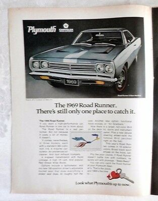 1969 Plymouth Road Runner 383 Magnum Magazine Advertisement