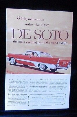 1957 De Soto Fireflite V-8 295hp Supercharged? Magazine Advertisement