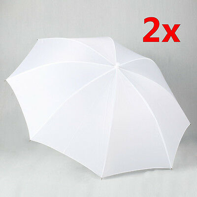 "2x Photography Studio Translucent Shoot Through Soft 33"" White Umbrella Diffuser"