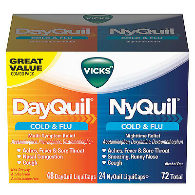Vicks NyQuil and DayQuil LiquiCaps Combo Pack - 72 ct.  cold and flu