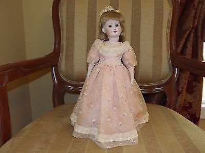 Germany Reproduction Bisque Head and Cloth Body Doll 550 R4U 14 in.