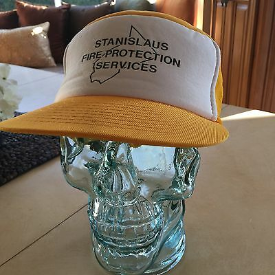 Stanislaus Fire Production Services Baseball Hat Golden Yellow Fire Fighter Cap