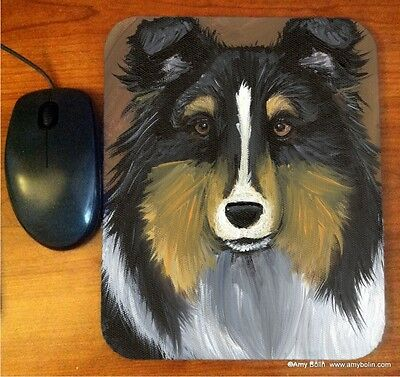 MOUSE PAD SHETLAND TRI COLOR SHELTIE  BY  Amy Bolin