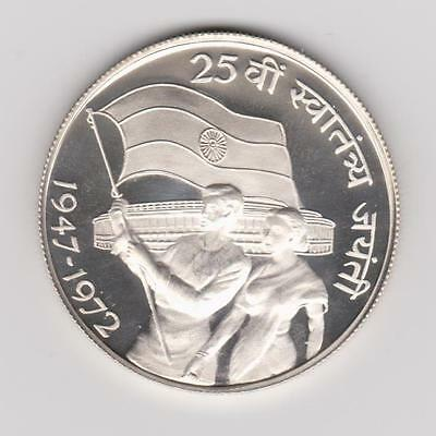 1972 B India 10 Rupees .500 Silver Proof