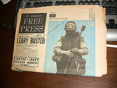 LOS ANGELES FREE PRESS 1971 Timothy Leary Bust Grand Funk Chuck Berry Guess Who