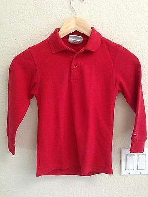 Educational Outfitters Red Long Sleeve Polo Size 7/8