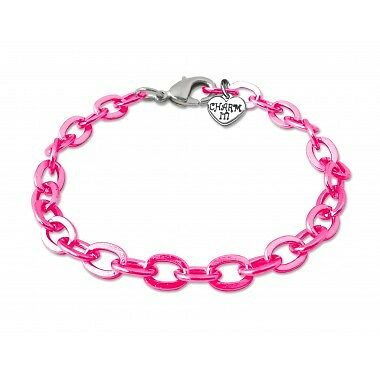 Charm It Pink Chain Link Bracelet - Kids Toy - Presents and Gifts for Children