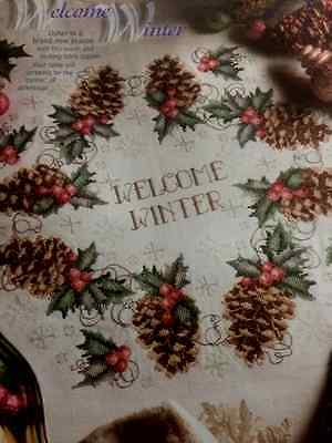 Welcome Winter Table Topper cross stitch pattern