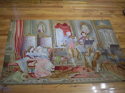 Vintage Vienese Tapestry (Gobelin) - The Music Lesson