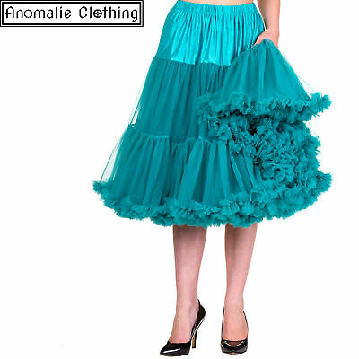 "Banned Apparel  Lifeforms 26"" Long Petticoat in Emerald"