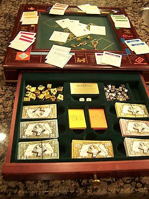 Franklin Mint Monopoly Ltd Edition Very Clean Complete W/ All Deeds Hotels House
