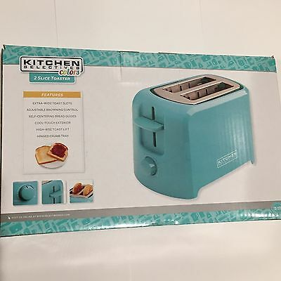 New Kitchen Selectives Wide Slot Cool Touch 2-Slice Toaster- Teal