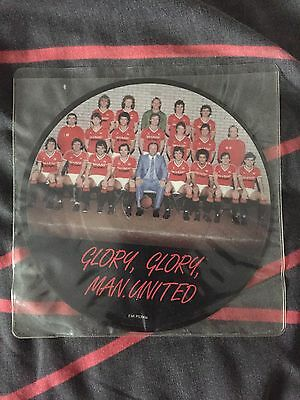 """Man Utd Glory Glory 1983 F.A. Cup Final 7"""" Pic Disc 32 Years Old EXC!"""