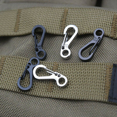 5X Spring SF Hooks Carabiner Key Chain Clip Hook Outdoor Buckle EDC Small Best