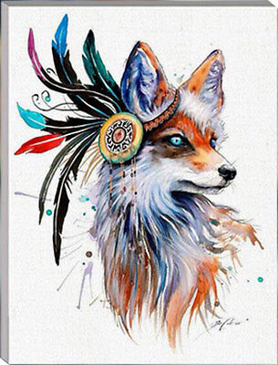 Framed Painting by Number kit Wolf Totem Wild Animal Fox Head Beast DIY HT7042