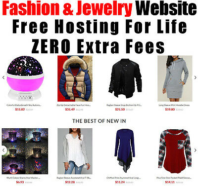 Fashion Website - Jewelry, Mens, Boutique - Home Online Business - No Extra Fees