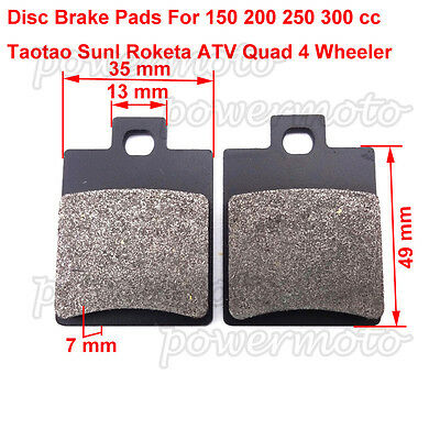 Caliper Brake Pads Fit Chinese 50 70 90cc 110cc 125cc 150cc 200cc 250cc ATV Quad