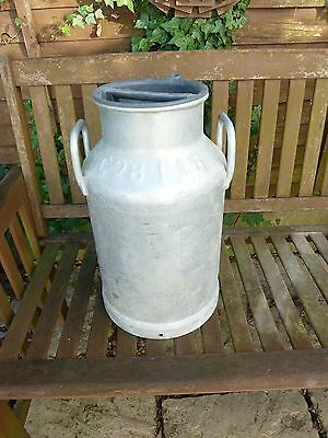 Vintage French Aluminium Milk Churn