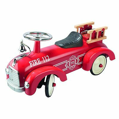 PRE ORDER Red Ride On Fire Engine, Steel Construction, Classic Retro Style