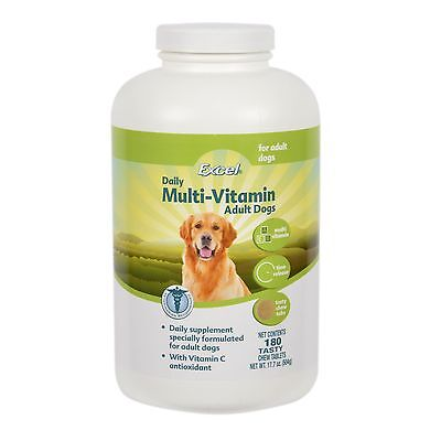 8in1 Excel Time Release Multi-Vitamin Adult dogs(180time release tablets) {N850}
