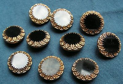 ANTIQUE CZECH GLASS BUTTONS - VINTAGE - ART-DECO - 1920´s-1930´s (10pcs) - A941
