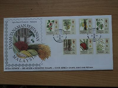 Malaysia Terengganu definitive 1986 25 October Agro-Based Products FDC