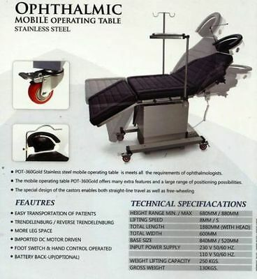Motorized Mobile OperationTable made of S/Steel eby_india best quality free ship