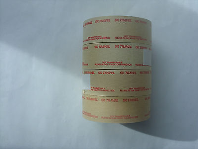 4 full, unused Setright Speed rolls printed OK Travel