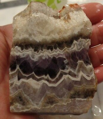 125g Chevron amethyst slab rough lapidary mineral specimen cabochon collection