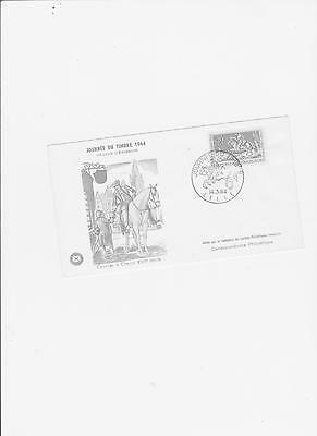 Fdc  Journee Du Timbre 1964 Courrier A Cheval
