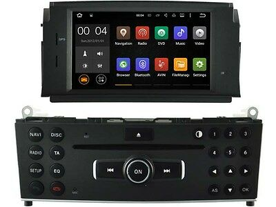 "Autoradio GPS Android 5.1 touchscreen 7"" Bluetooth Mercedes Klasse C W204"