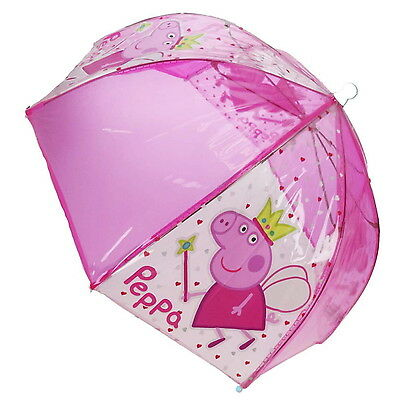 NEW OFFICIAL Peppa Pig Girls / Kids Bubble / Dome Umbrella / Brolly