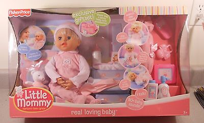 Little Mommy Real Loving Baby Set Doll Fisher price