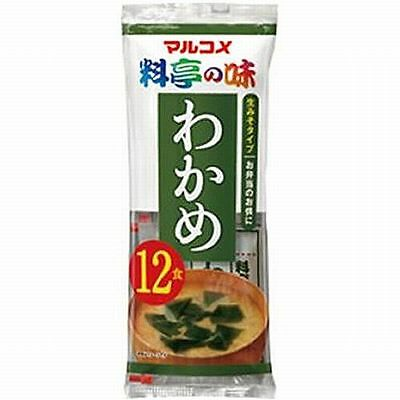 Instant Miso Soup Marukome Seaweed 12 Servings Japan New F/S