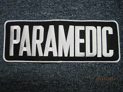 Paramedic Patch Black With White Letters 4 X 11 In*