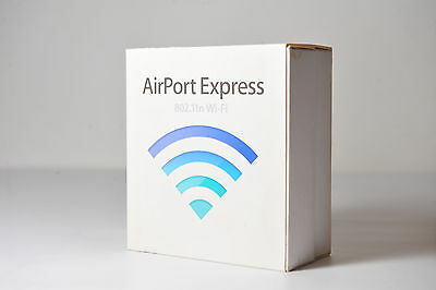Apple - AirPort Express Base Station 802.11n Wi-Fi MB321B/A Model A1264