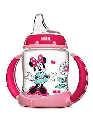 NUK Small Sippy Cup Disney Minnie Mouse, 5-Oz, Baby Feeding Dishes Utensils NEW